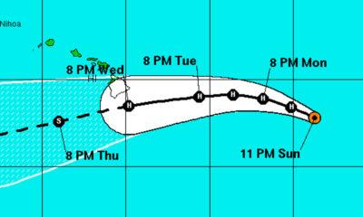 Hurricanes Madeline & Lester Move Towards Hawaii