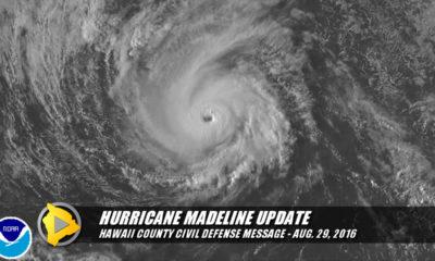 VIDEO: Hawaii Co. Civil Defense Message On Hurricane Madeline