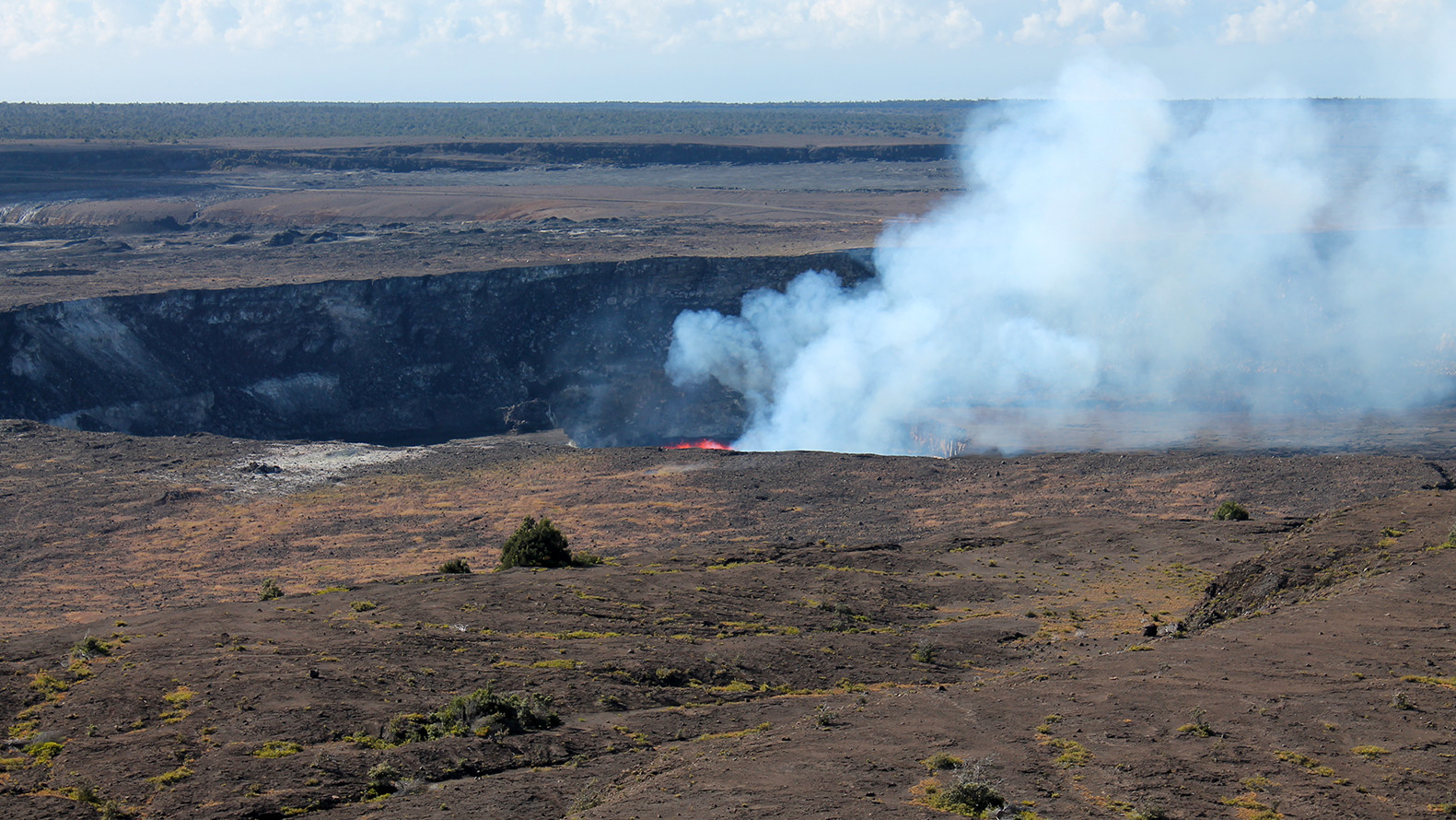 Kilauea Volcano Lava Lake Rises Back Into View