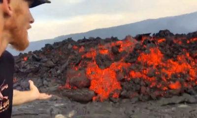 VIDEO: Dramatic Lava Breakouts Filmed