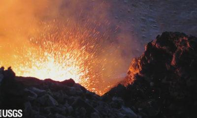 VIDEO: Kilauea Volcano Lava Lake Level Fluctuates