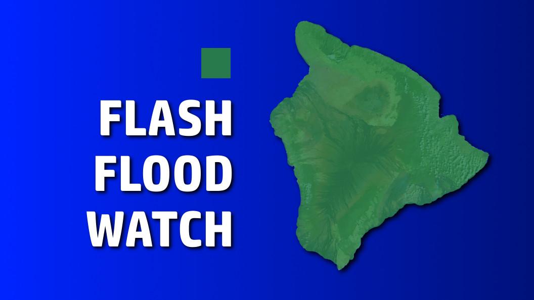 Hawaii Flash Flood Watch, Flood Advisory In Effect