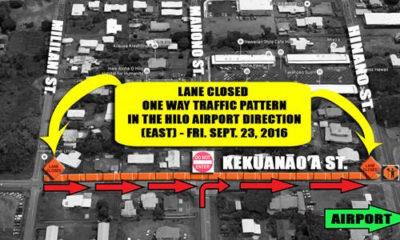 ROAD ALERT: Temp One-Way Traffic On Kekuanaoa St