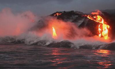 VIDEO: Lava Ocean Entry Continues, Breakouts On Coastal Plain