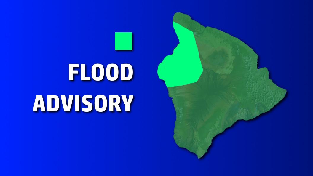 Heavy Rain In Waikoloa Prompts Flood Advisory