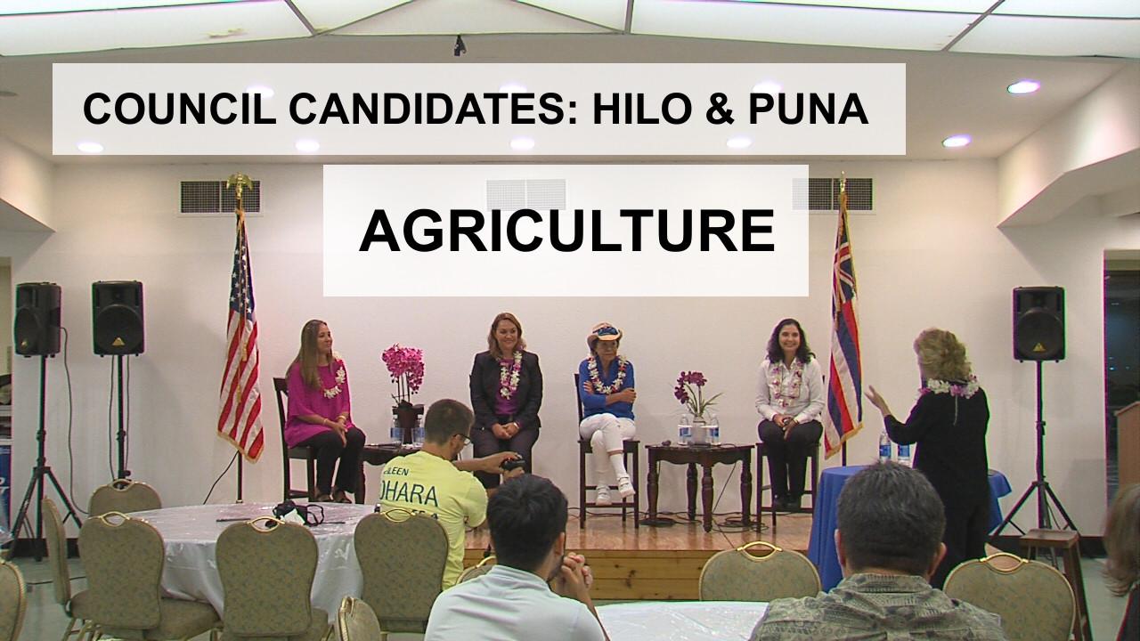 VIDEO: Agriculture – Hilo, Puna Council Candidates (13/14)