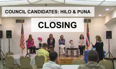 VIDEO: Closing Remarks – Hilo, Puna Council Candidates (14/14)
