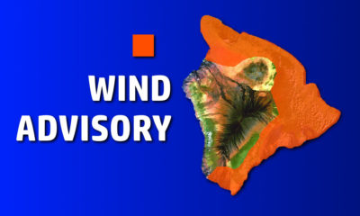 Wind Advisory For East Hawaii, 50 mph Winds Possible