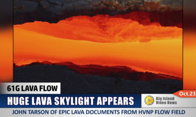 VIDEO: Huge Lava Skylight Appears On Flow Field