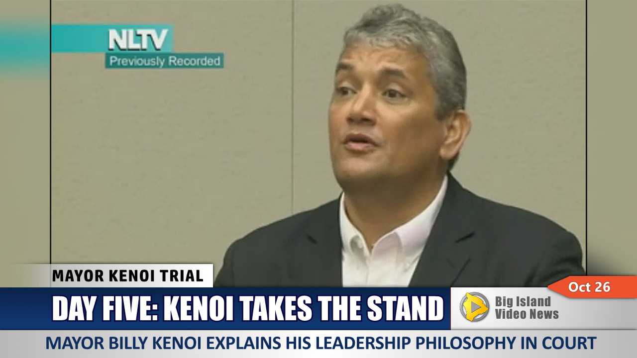 VIDEO: Day Five Of Mayor Kenoi Trial