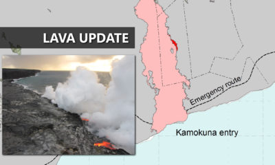 Lava Flow Update: Cracks Observed On East Delta