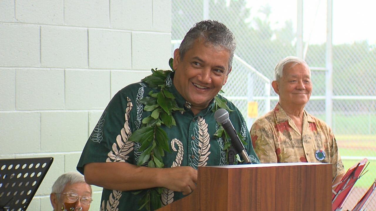 VIDEO: Mayor Kenoi Speaks At Pahoa Park Opening
