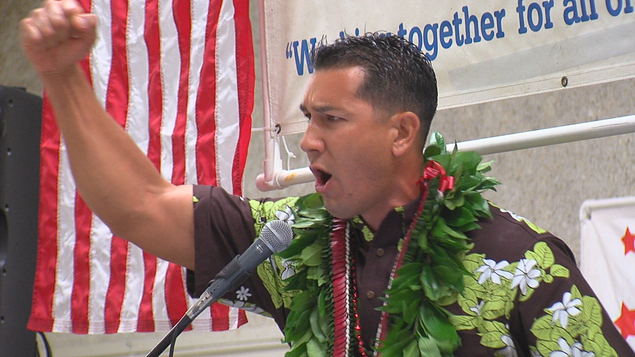 VIDEO: Kai Kahele Delivers Rousing Rally Speech