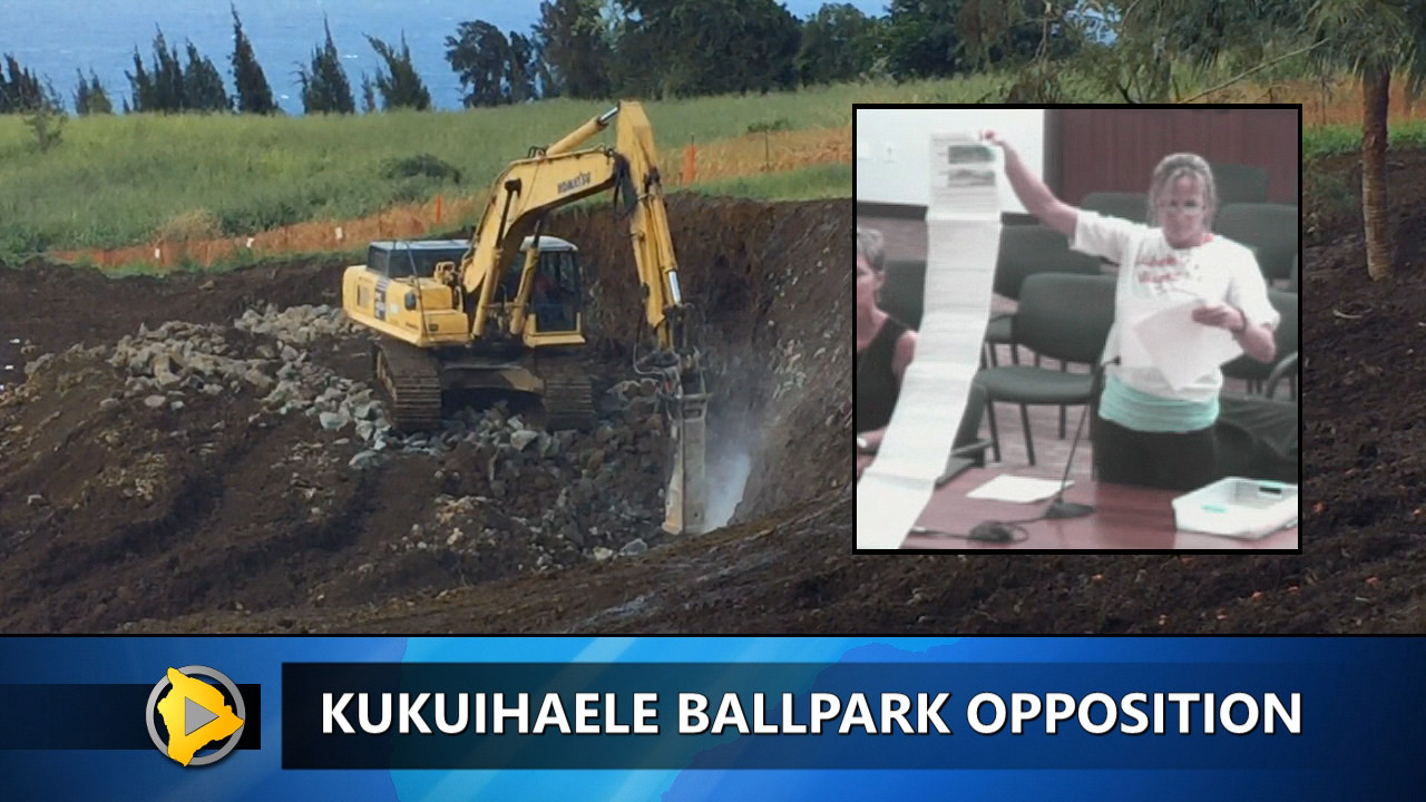 VIDEO: Kukuihaele Ballpark Opponents Speak Out Again