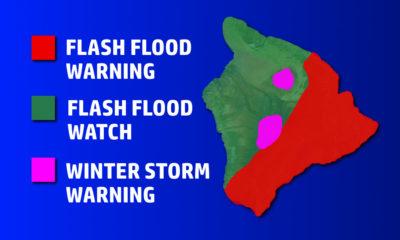 Flash Flood Warning For East Hawaii