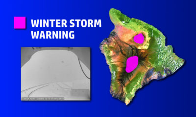 Snow Piles Up On Hawaii, Winter Storm Warning For Summits