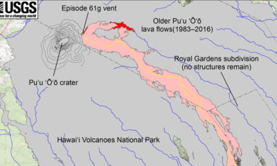 Lava Update: Map Shows Advance Of New Flow Branch