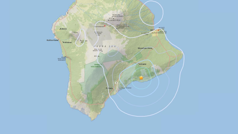 3.6 Earthquake Shakes Hawaii Volcano Area