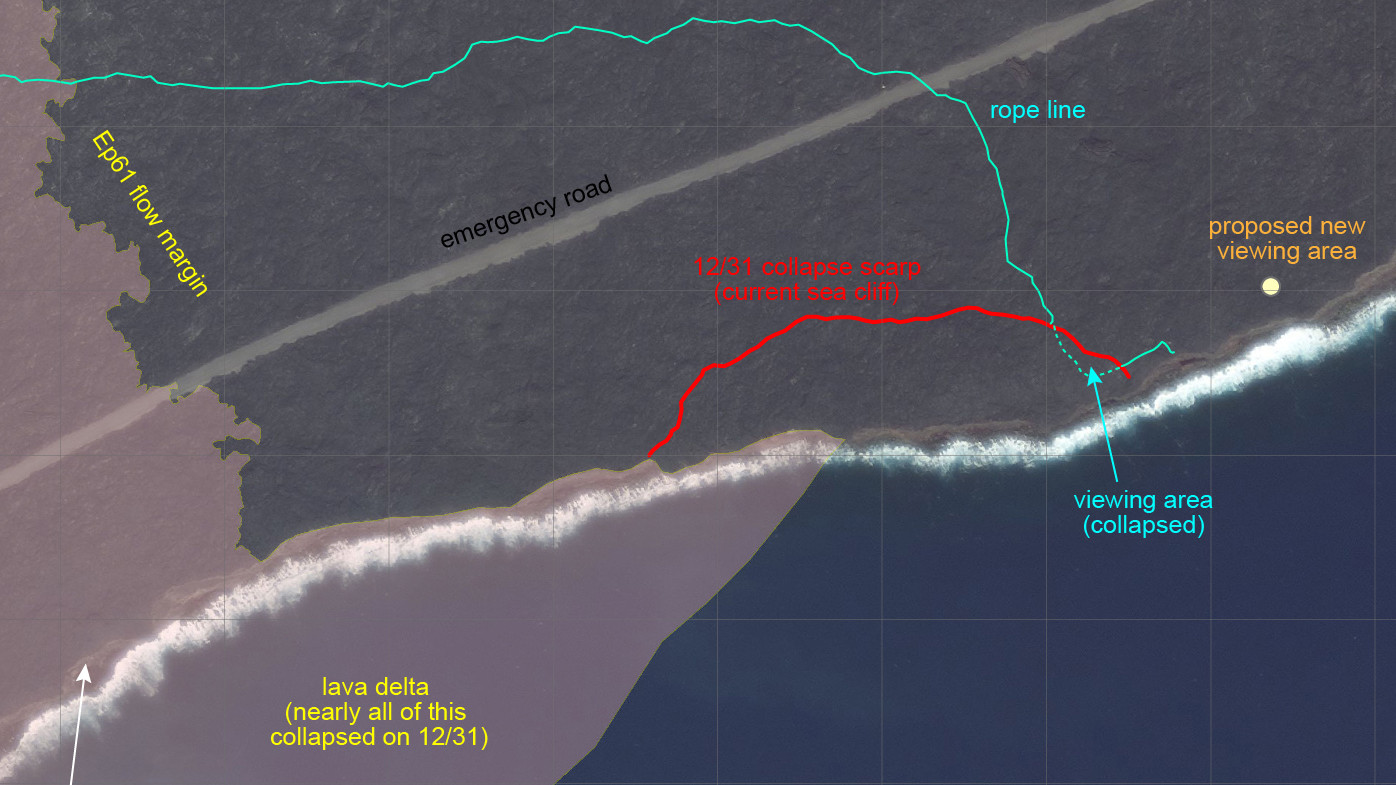 Scientists Map Area Of Lava Delta Collapse