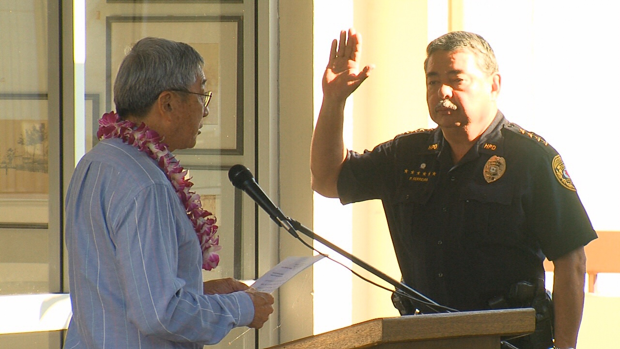 VIDEO: New Police Chief Ferreira, Deputy Chief Bugado Celebrated