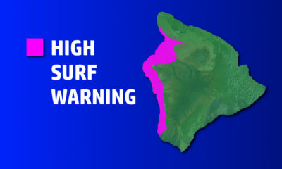 High Surf Warning In Effect For West Hawaii