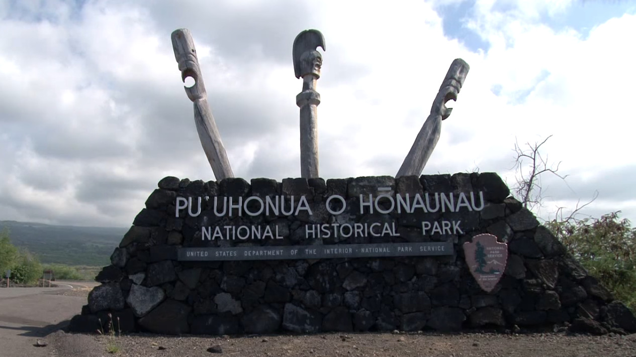 High Surf Closes Puuhonua O Honaunau National Historical Park