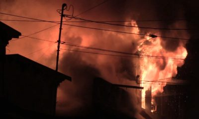 VIDEO: Fire Burns Pahoa Village Buildings