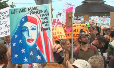VIDEO: Thousands March In Hilo As President Trump's Term Begins