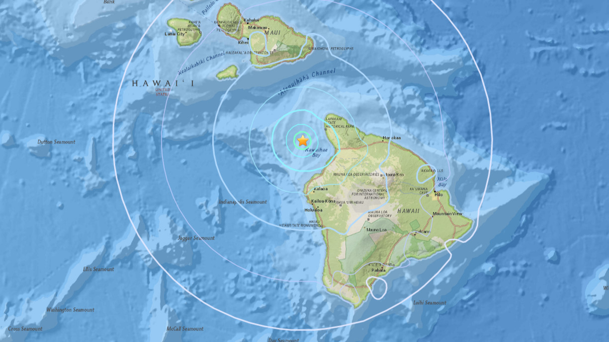 Magnitude 4.6 Earthquake Rumbles Between Hawaii, Maui