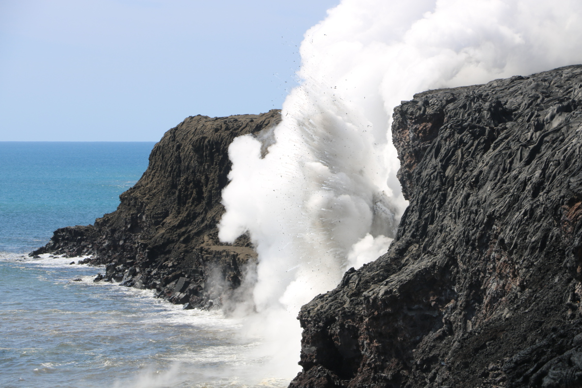 VIDEO: Sea Cliff Collapses At Lava Ocean Entry