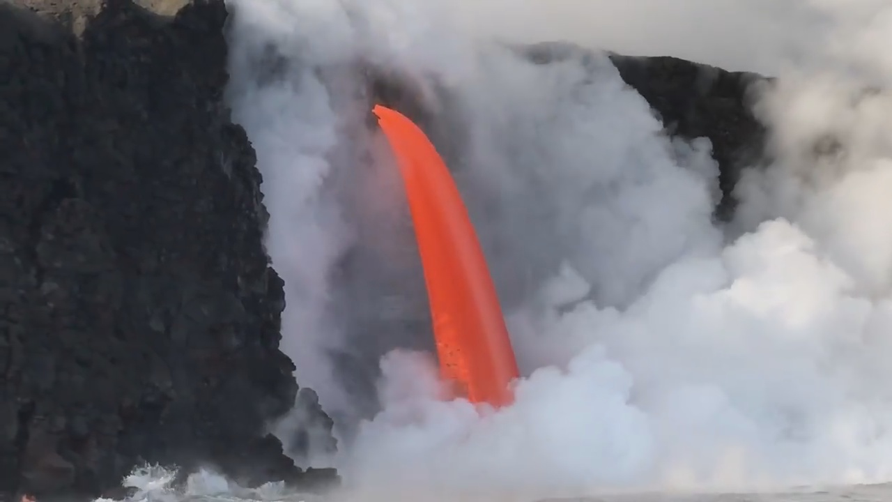 "VIDEO: Lava ""Fire Hose"" Returns After Cliff Collapse"