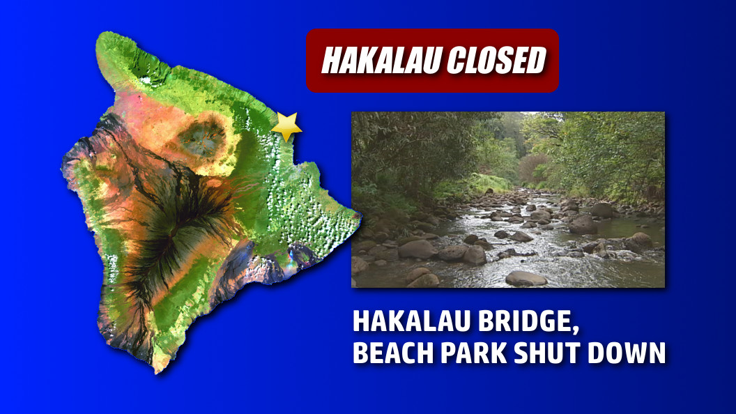 Hakalau Bridge, Beach Park To Be Closed Until Further Notice