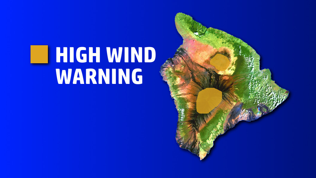 High Wind Warning For Summits, Surf Advisory For West Hawaii