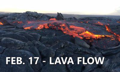 VIDEO: Lava Surface Flows Prompt Civil Defense Reminder