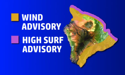Hawaii's Windy Weather Joined By High Surf Advisory