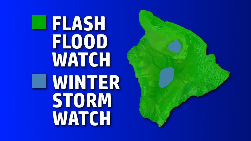 Flash Flood Watch In Effect For Hawaii