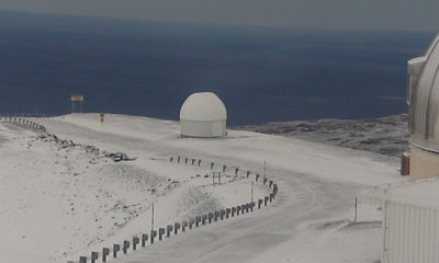 Snow On Mauna Kea, Winter Storm Warning In Effect