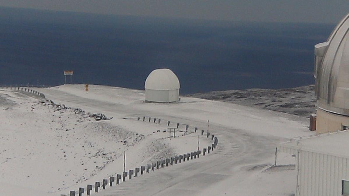 Snow On Mauna Kea, Winter Storm Warning In Effect