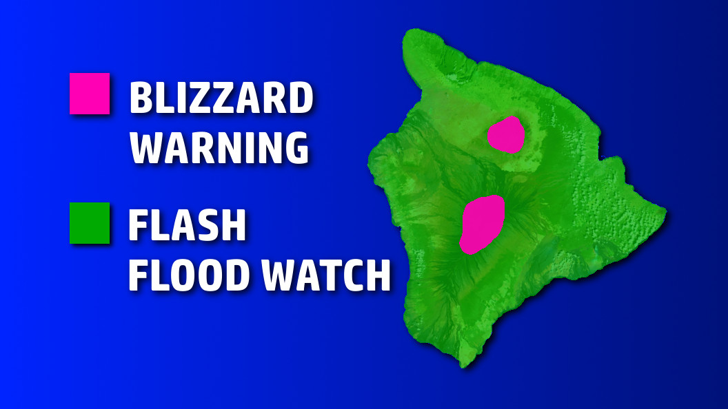 Blizzard Warning For Hawaii, Severe Weather Hits State