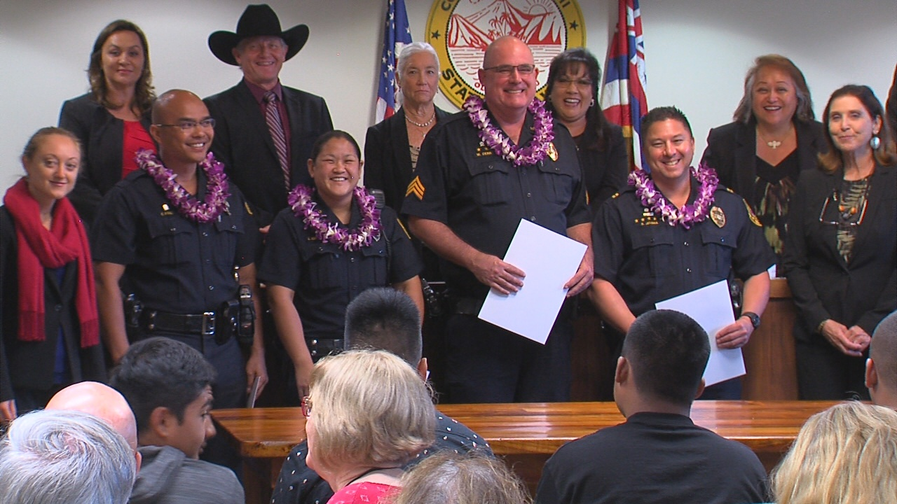 VIDEO: Police Officers Honored For Pahoa Fire Response