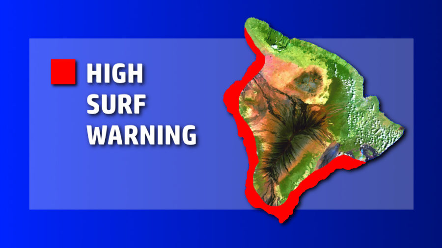 High Surf Warning Posted For Hawaii Island