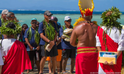 VIDEO: Hokulea, Hikianalia Ceremonial Return To Taputapuatea