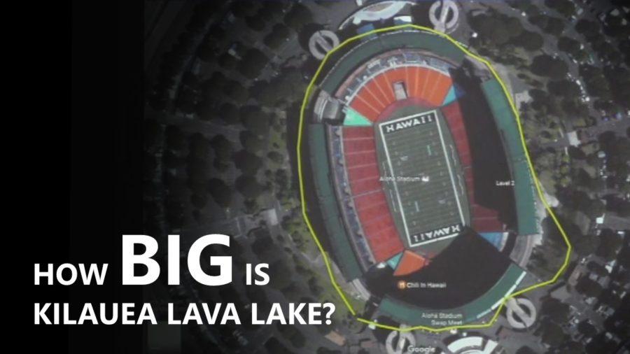 Kilauea Volcano Summit Lava Lake Continues To Grow