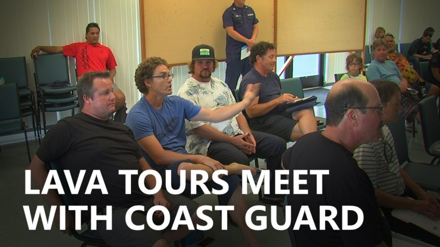 VIDEO: Lava Boat Tours Meet With USCG On Safety Zone Rule