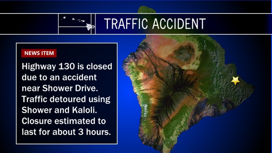 Traffic Accident Closes Puna Highway 130