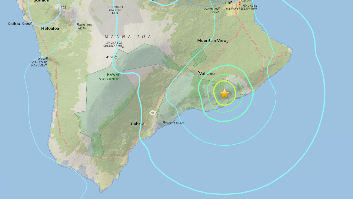 Magnitude 5.1 earthquake strikes Hawaii's Big Island