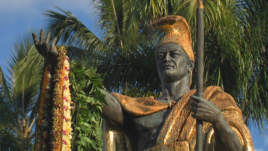 VIDEO: Kamehameha Statue Lei Draping In Hilo