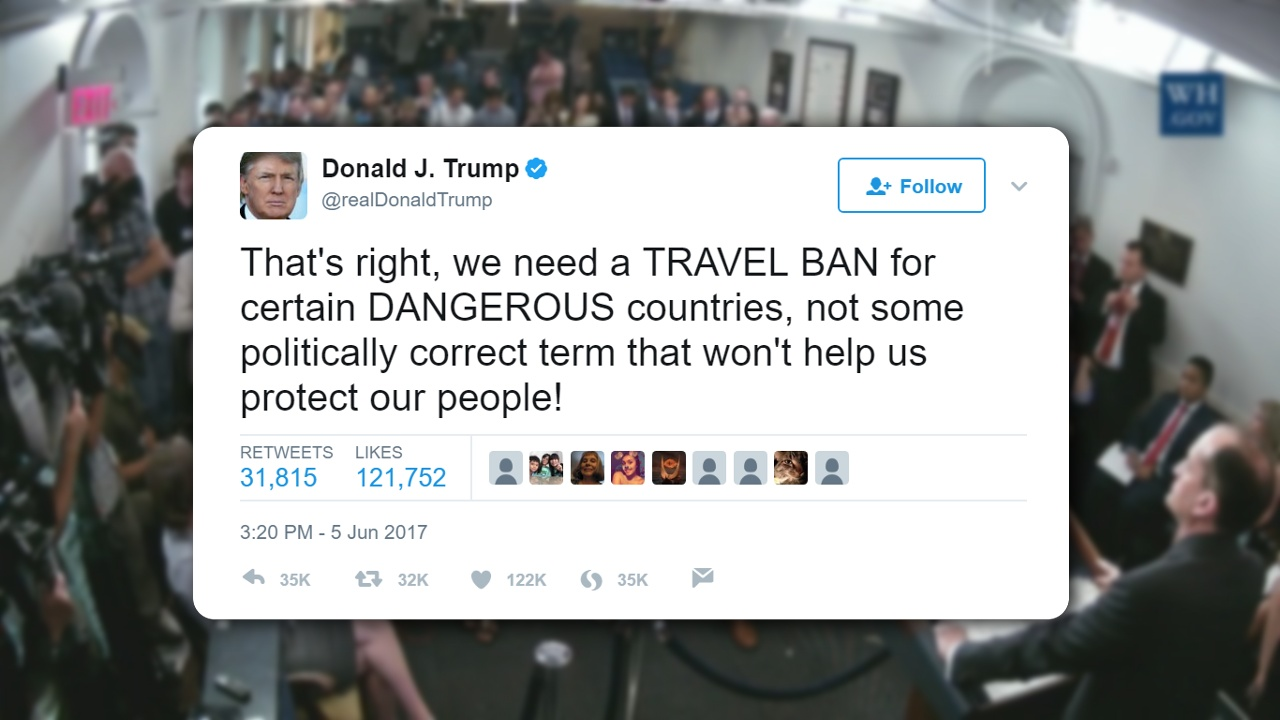 Trump pushes back on claims that travel ban soon to expire