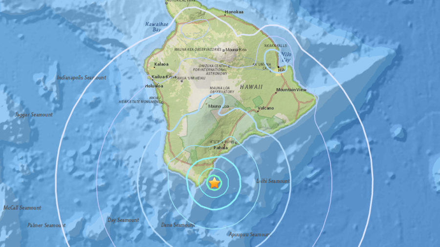 4.5 Earthquake Rumbles Off Hawaii Near South Point