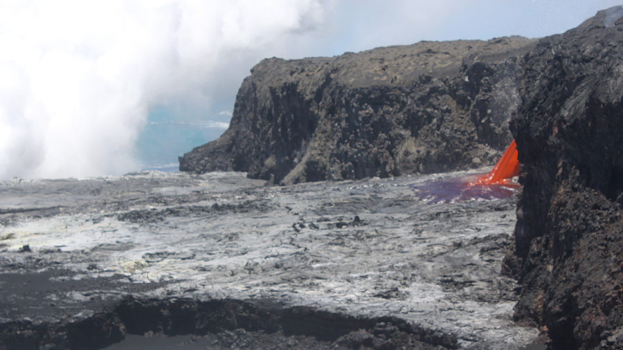 Lava Firehose Briefly Returns To Ocean Entry, USGS Says